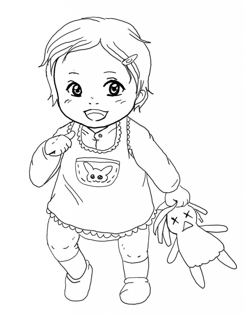 795x1024 Baby Girl Drawing Image Baby Girl Drawings Ba Girl Chibi Ragdoll
