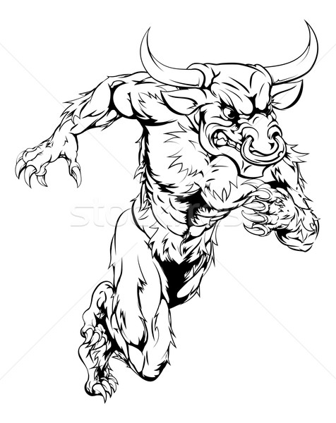 476x600 Charging Bull Stock Vectors, Illustrations And Cliparts Stockfresh