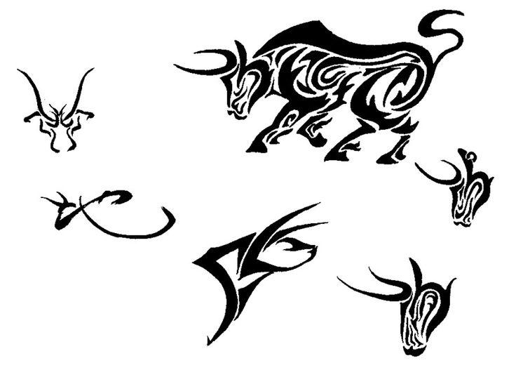 736x547 Collection Of Taurus Raging Bull Tattoo Stencil
