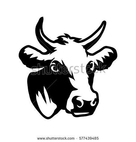 450x470 Drawn Bulls Cattle Head