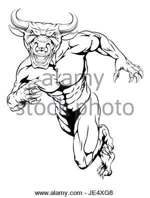 300x397 Angry Bull Charging Cartoon Stock Photo 103051842