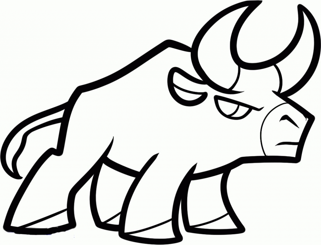 1024x782 Easy Sketch To Bull Face Easy Pictures For Drawing How To Draw