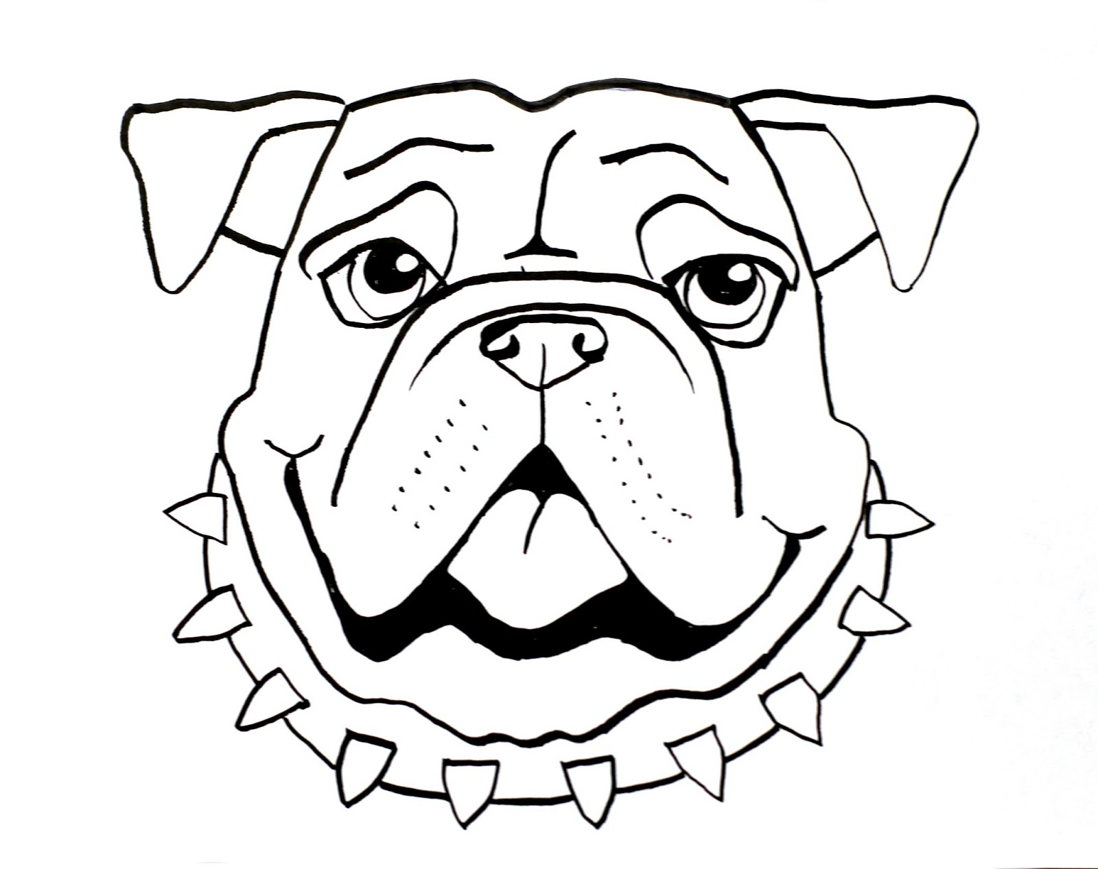 1600x1267 Easy Sketch To Bull Face Smart Class Bull Dog Draw A Long