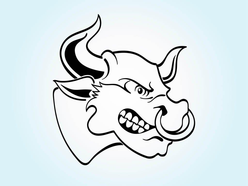 1024x769 Angry Cartoon Bull Vector Art Amp Graphics
