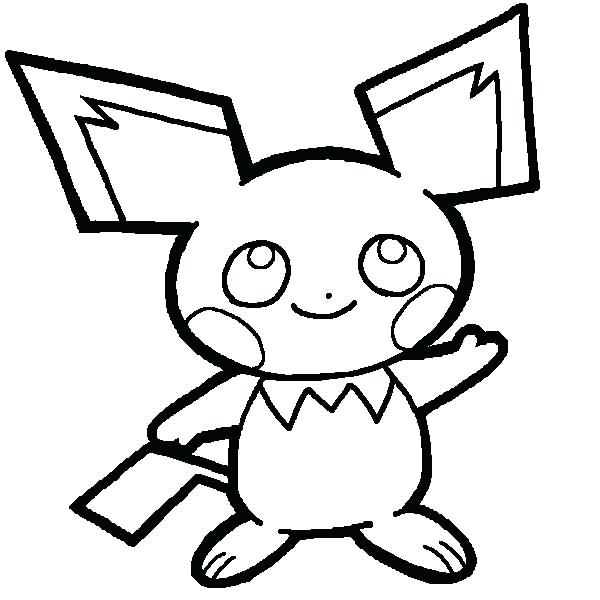 Raichu drawing at free for personal use for Pichu coloring pages