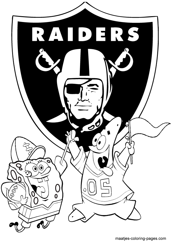 Oakland raiders coloring pages logo ~ Raiders Logo Drawing at GetDrawings.com | Free for ...