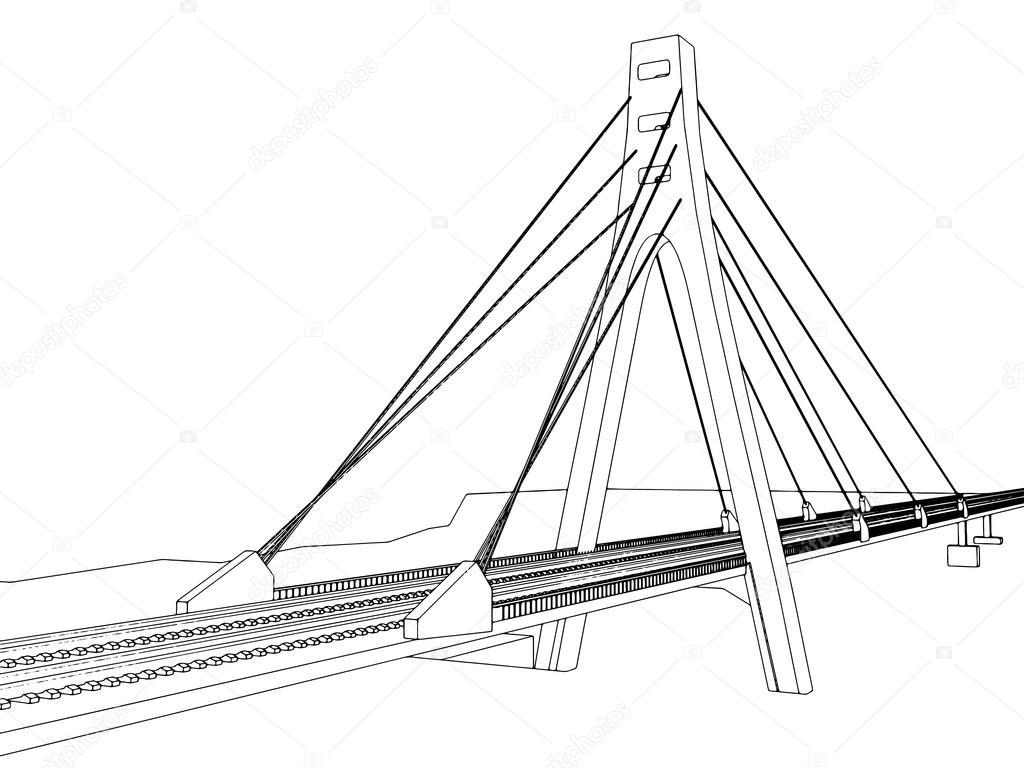 1024x768 Railway Vector Illustration On White Stock Vector Zozu