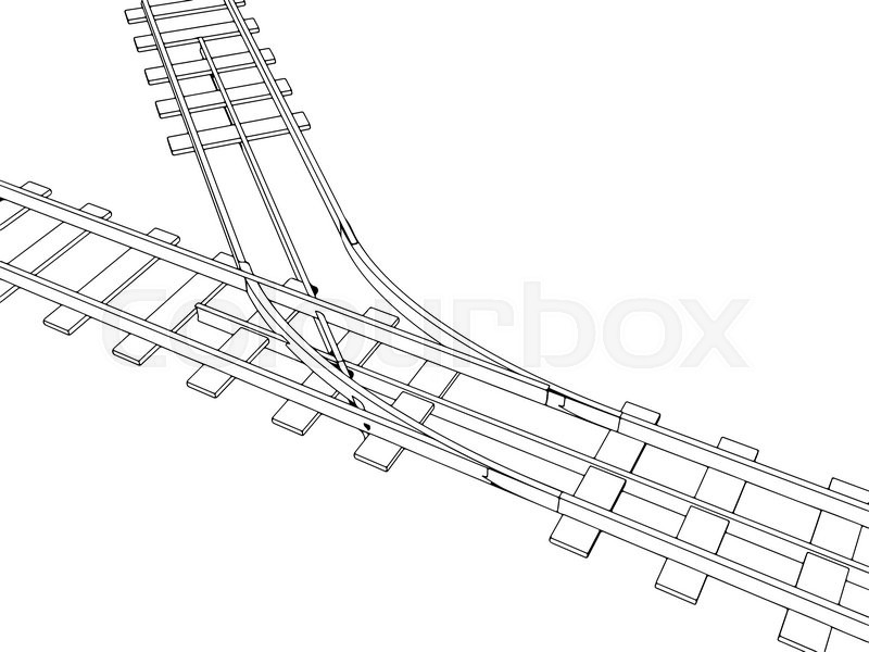 Rail Track Drawing At Getdrawings Com