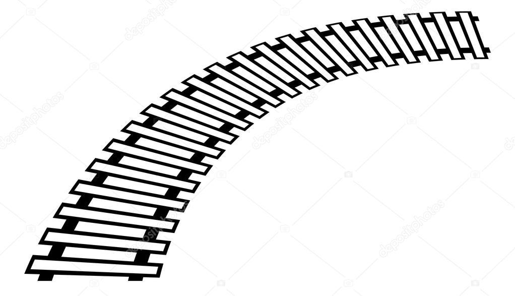 1022x587 Train Track, Rail Track Element Stock Vector Vectorguy