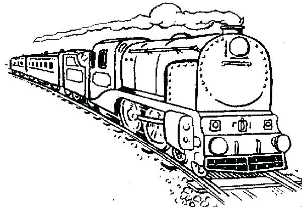 600x412 Train Coloring Pages Free Train Coloring Pages Coloring Page Park