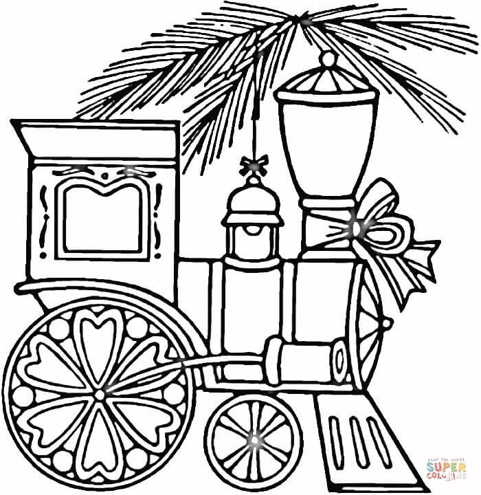 700x720 Christmas Train Coloring Page Free Printable Coloring Pages