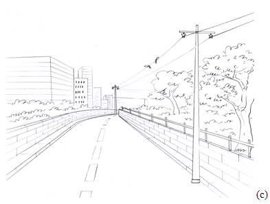 Railroad Perspective Drawing