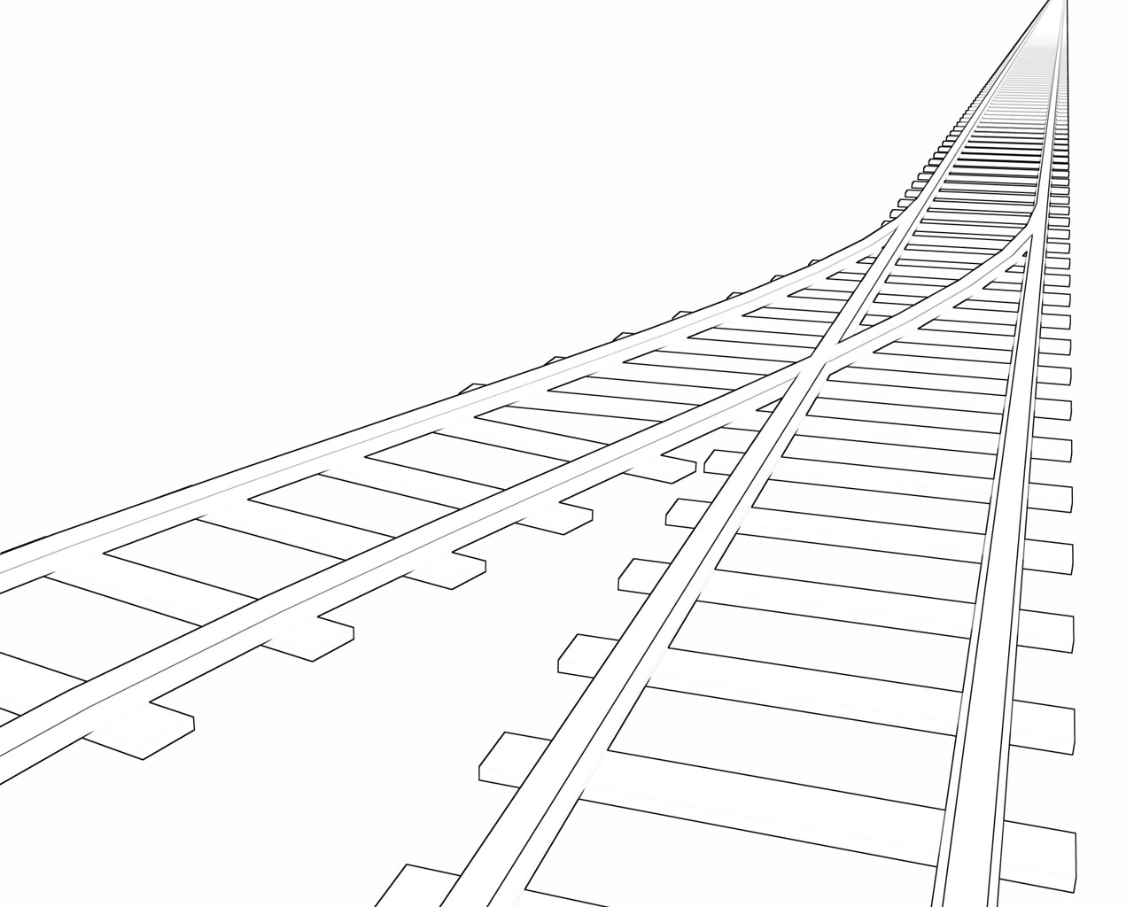 Railroad Spike Drawing