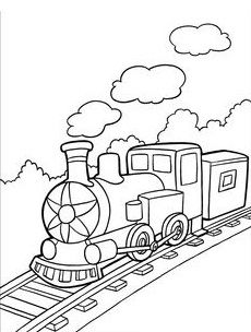 230x304 Free Printable Train Templates Free Printable Train Coloring