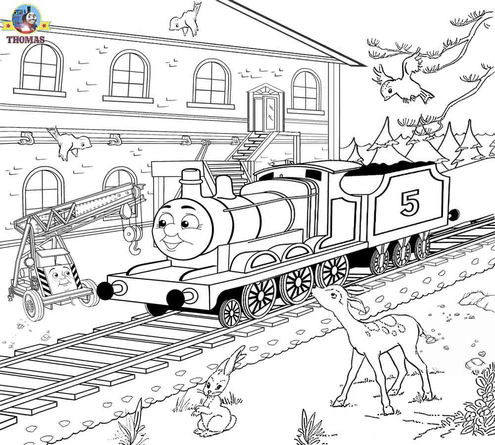 1000x900 Outline Drawing For Scenery Free Printable Railway Pictures Thomas