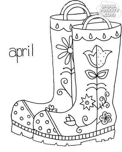 Rain Boots Drawing