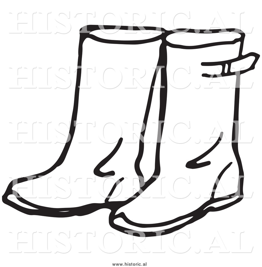 Rain Boots Drawing at GetDrawings.com | Free for personal use Rain ...