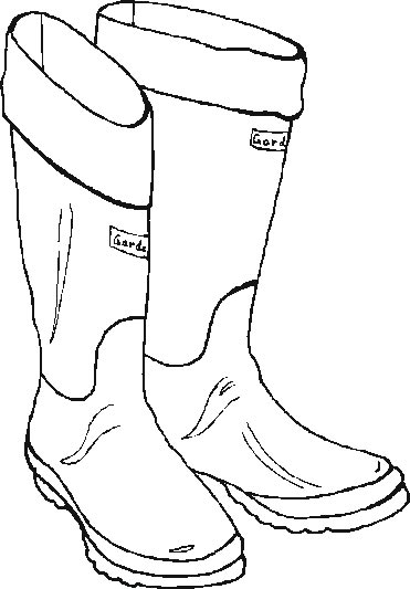 Rain Boots Drawing at GetDrawingscom Free for personal use Rain