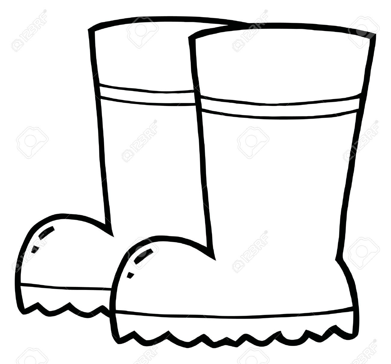 boot coloring pages - photo#32