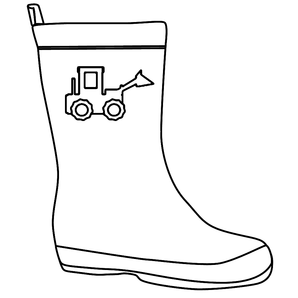 boot coloring pages - photo#11
