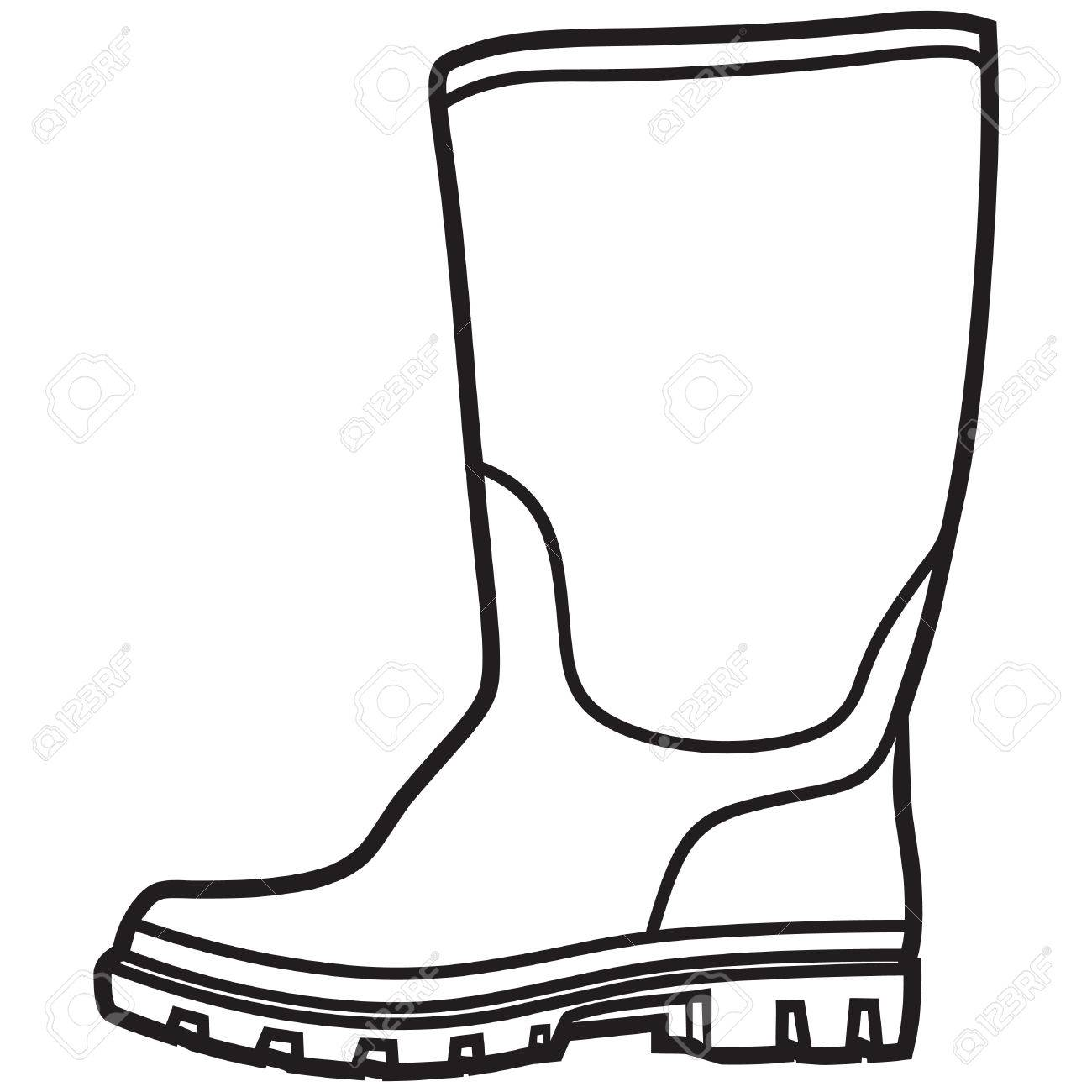 rain boots drawing at getdrawings  free download