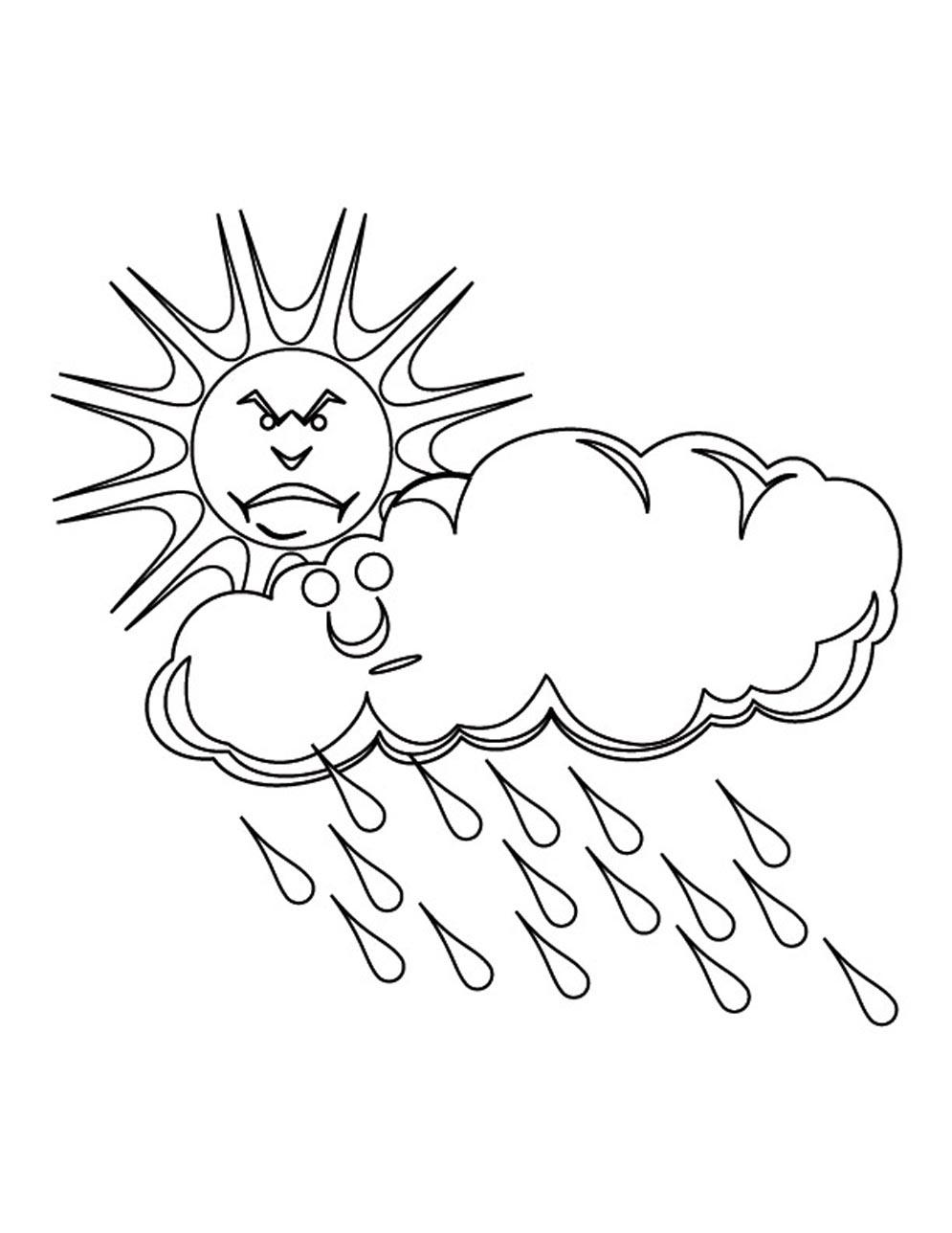 Rain Cloud Drawing at GetDrawings.com | Free for personal use Rain ...