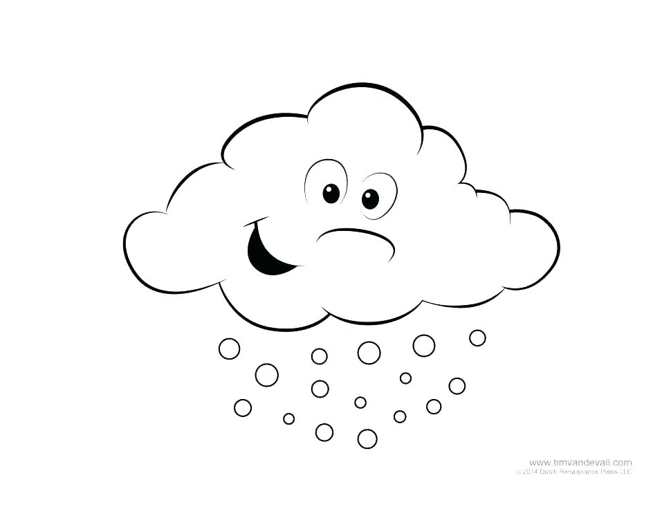 970x749 Cloud Coloring Page Clouds Rain Colori On Learn Colors For Kids