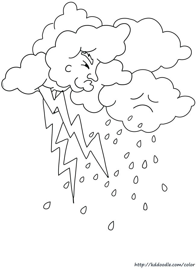 Rain Cloud Drawing at GetDrawings