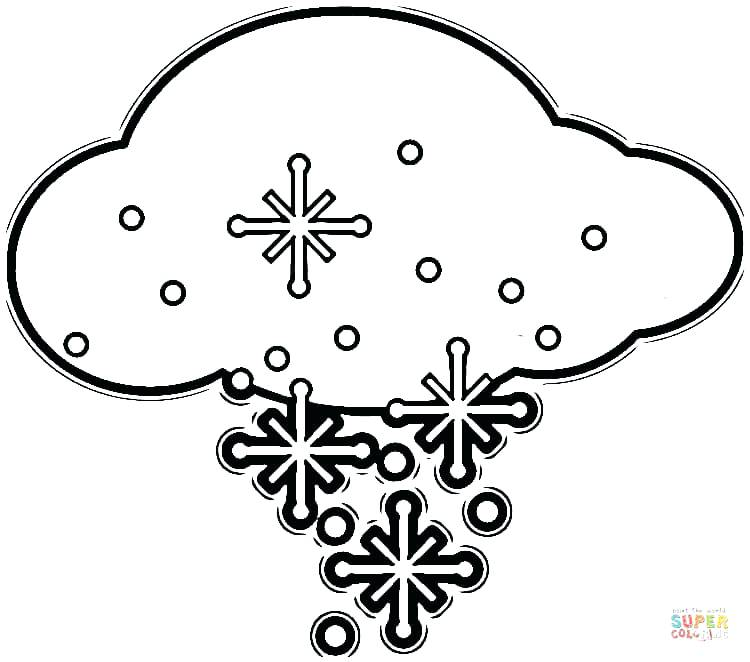 750x662 Cloud Coloring Sheet Click The Flakes In The Cloud Coloring Pages