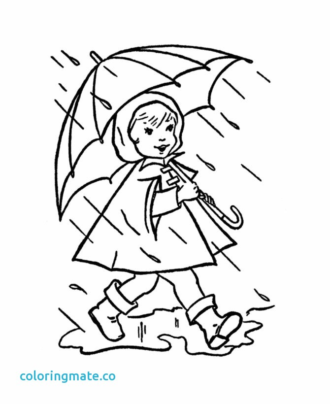 Rain Drawing For Kids