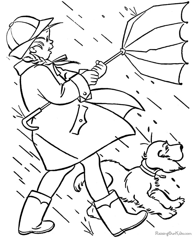 670x820 Perfect Rainy Day Coloring Pages 62 For Your