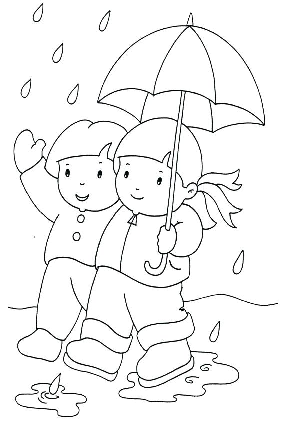 raincoat coloring pages for kids - photo#25