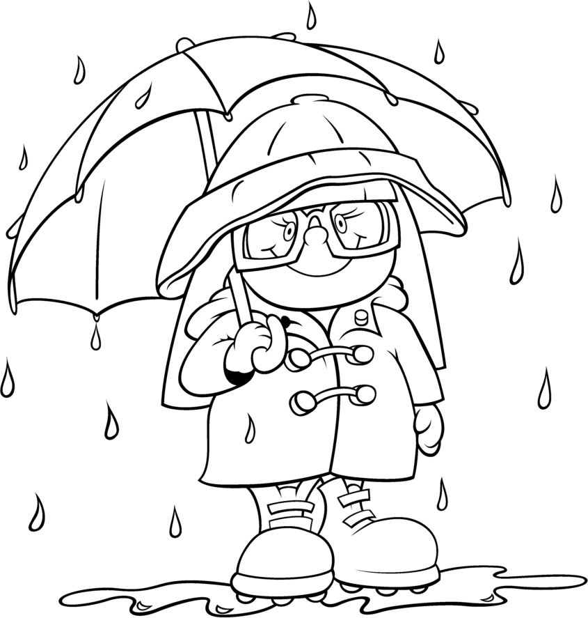 Weather coloring pages for kid ~ Rain Drawing For Kids at GetDrawings.com | Free for ...
