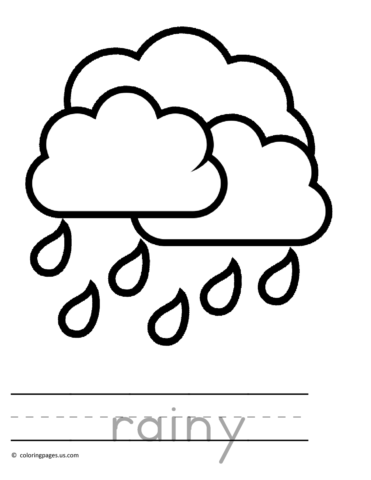 1275x1650 Raining Preschool Coloring Pages 01 4 Kids Very Young