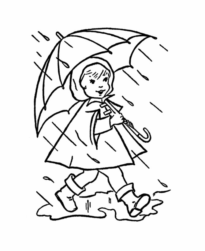 preschool rainy day coloring pages - photo#18