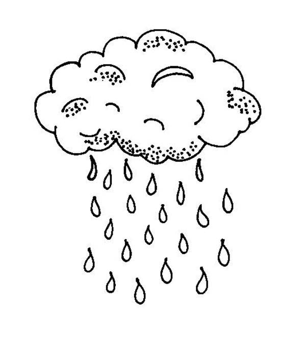 600x688 Raindrop Falls From Black Cloud Coloring Page Color Luna