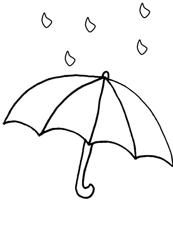 600x800 Raindrop And Umbrellah Coloring Page Color Luna