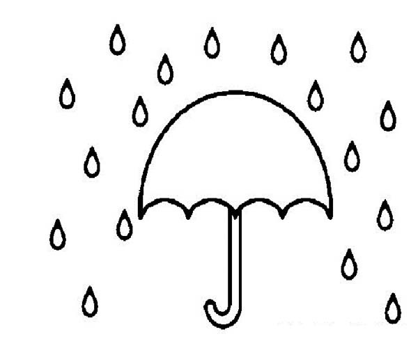 600x490 Umbrella To Cover From Raindrop Coloring Page Color Luna