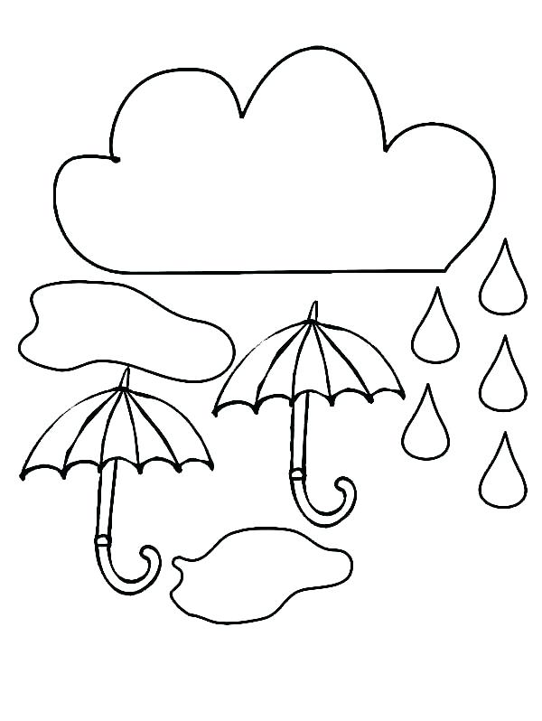 600x798 Fresh Raindrop Coloring Page Or Rain Coloring Pages Cloud