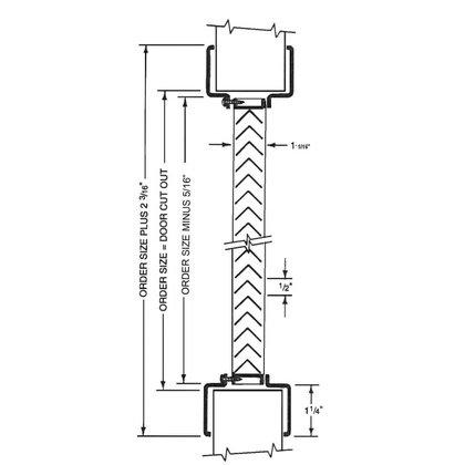 420x420 Air Louver 1300 10(W) X 6(H) Self Attaching Aluminum Door Vent