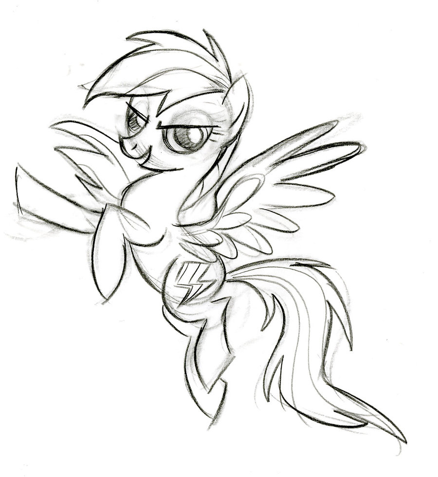 Rainbow Dash Drawing