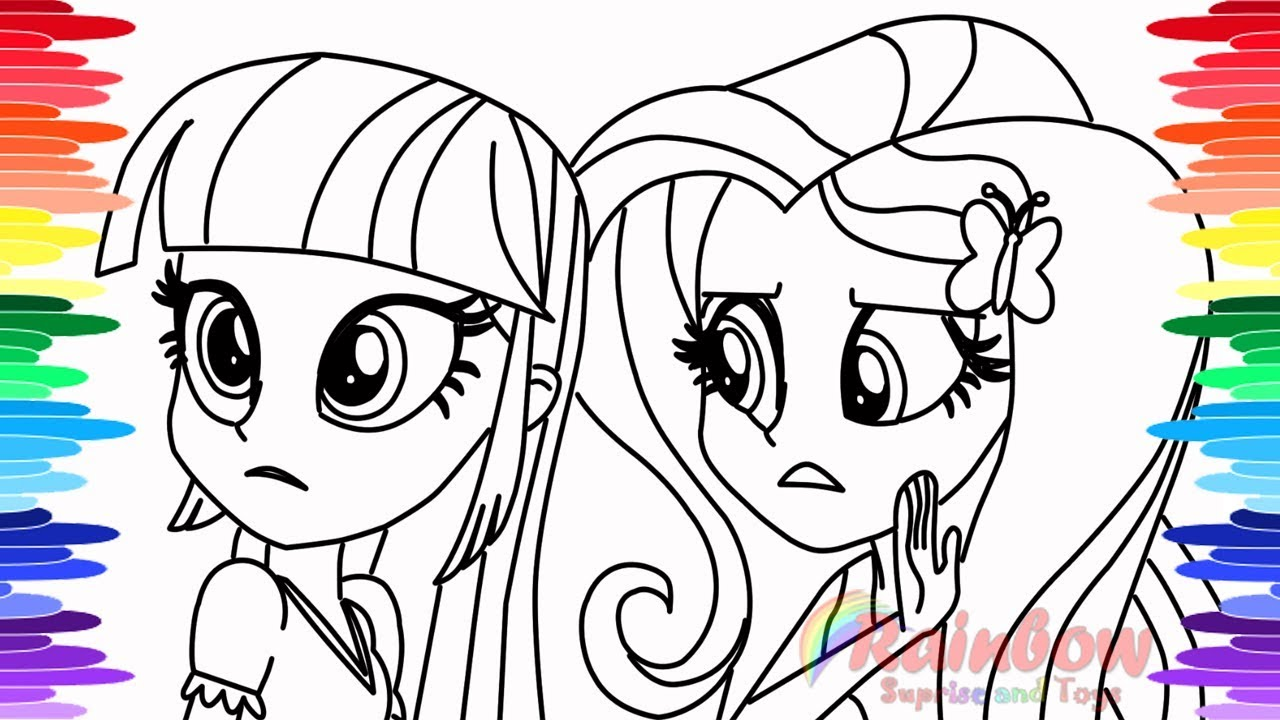 1280x720 How To Draw And Color Mlp Equestria Girls Twilight Sparkle