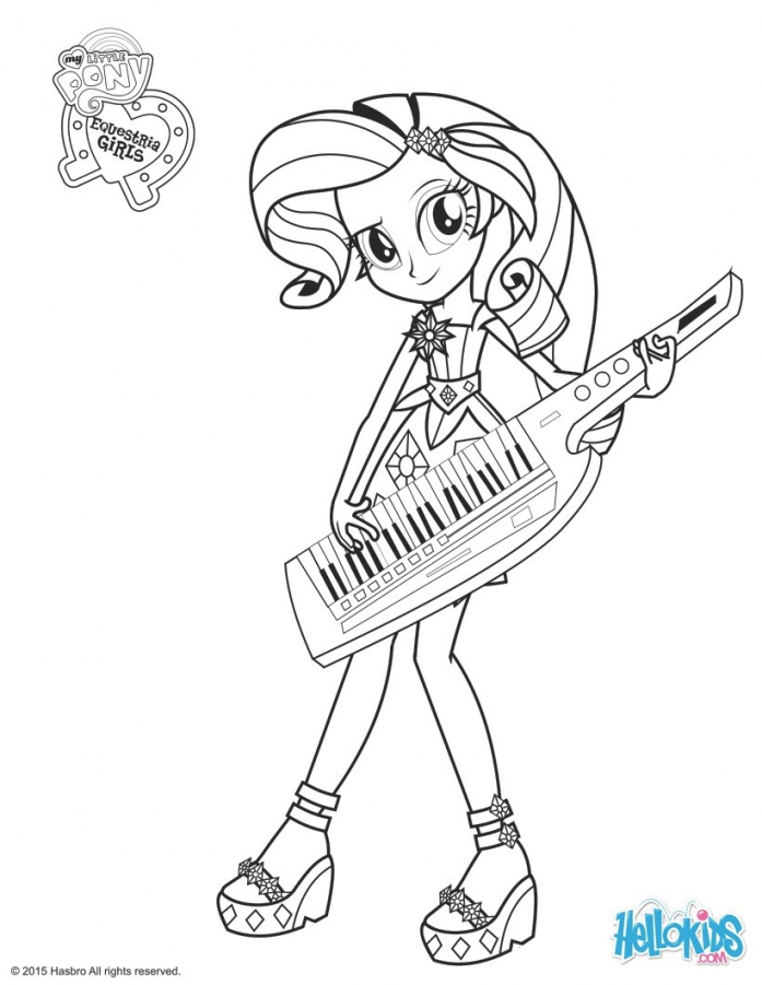 697x901 My Little Pony Equestria Girls Rainbow Rocks Coloring Pages