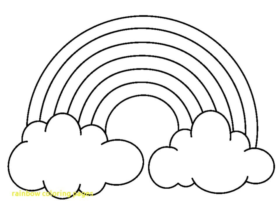 960x720 Rainbow Coloring Pages With A Simple Drawing Of Rainbow Behind