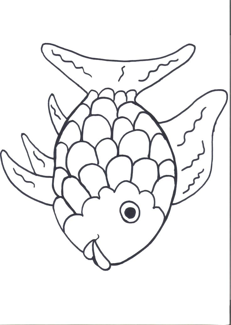 736x1035 Lovely Pout Fish Coloring Pages Kids Rainbow For Many Interesting