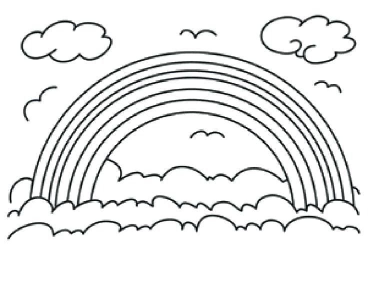 736x567 Pictures Of Rainbows To Color Rainbows Coloring Pages Rainbow