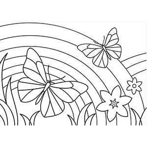 300x300 Rainbow Coloring Pages