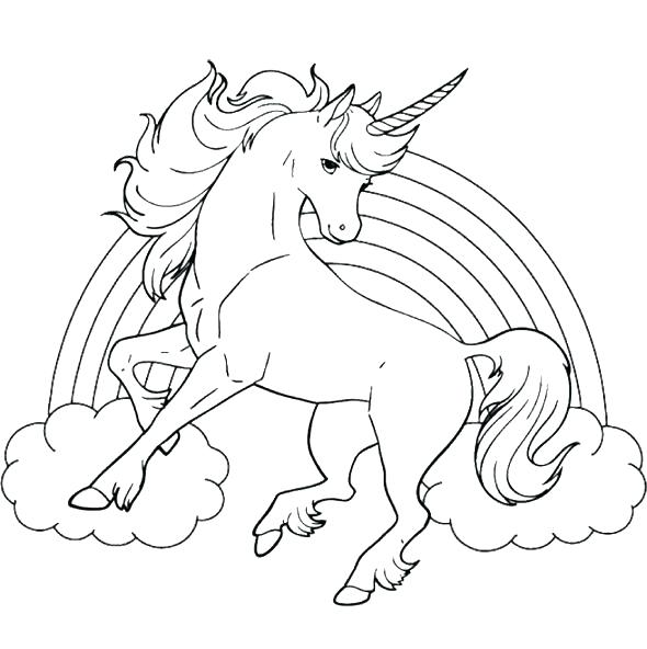 590x592 Rainbow Coloring Pages Rainbow Coloring Page With Color Words