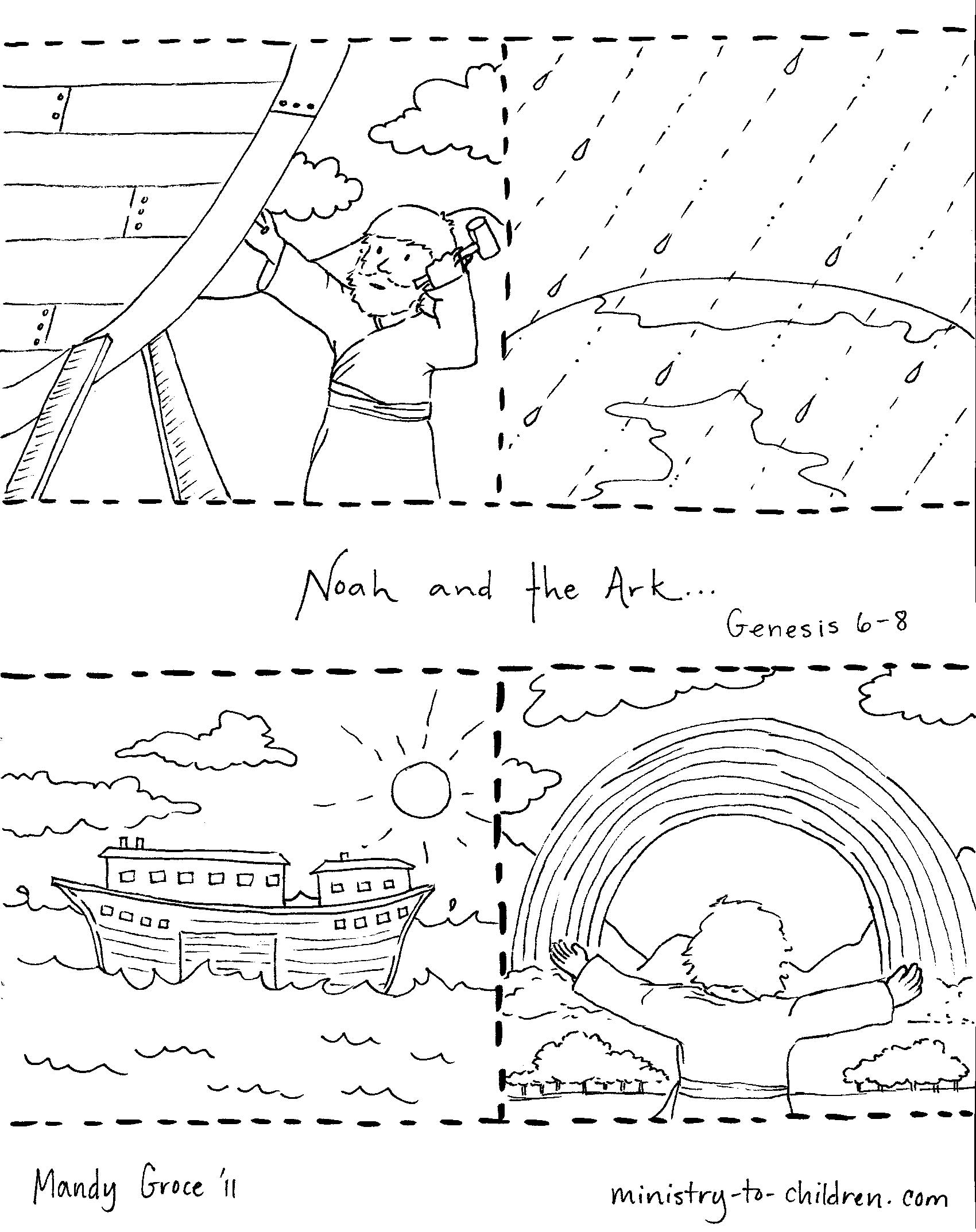 1700x2147 Rainbow Noah Coloring Page