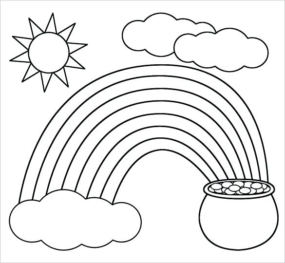 585x540 Pot Of Gold Coloring Pages A Kids Drawing Of Pot Of Gold Coloring